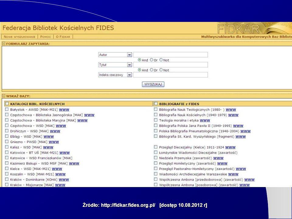 Źródło: http://fidkar.fides.org.pl/ [dostęp 10.08.2012 r]